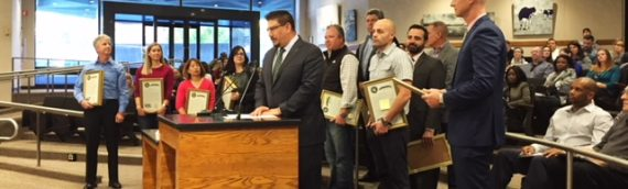 GR Trucking, LLC presented with Resolution by Supervisor Phil Serna
